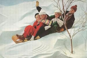 Four People on a Toboggan