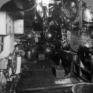 Four Torpedo Tubes in the Forward Compartment of a German U-Boat, World War I, 1918