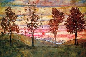 Four Trees Egon Schiele