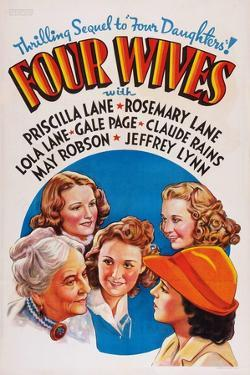 Four Wives, May Robson, Rosemary Lane, Lola Lane, Priscilla Lane, Gale Page, 1939