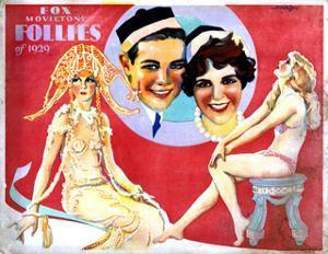 Fox Movietone Follies of 1929, Center, John Breeden, Sharon Lynn, 1929