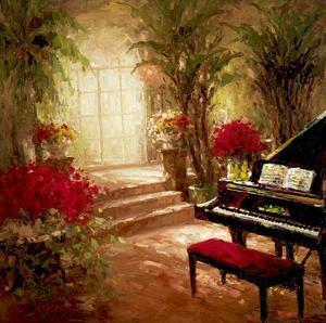 Illuminated Music Room by Foxwell
