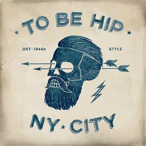 Vintage Skull Hipster by foxysgraphic