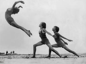 Dancers on the Beach by FPG