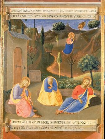 Agony in the Garden, Panel Three of the Silver Treasury of Santissima Annunziata, c.1450-53 by Fra Angelico