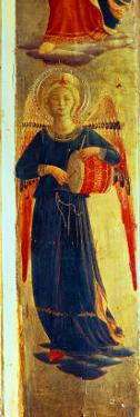 Angel Beating a Drum from the Linaiuoli Triptych, 1433 by Fra Angelico