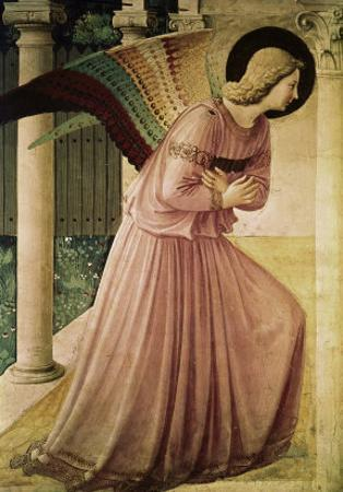Angel of the Annunciation, Detail by Fra Angelico