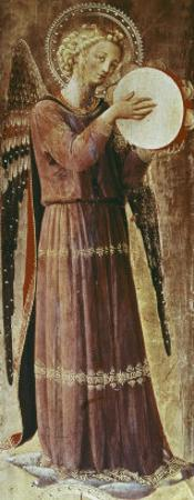 Angel with Tambourine by Fra Angelico