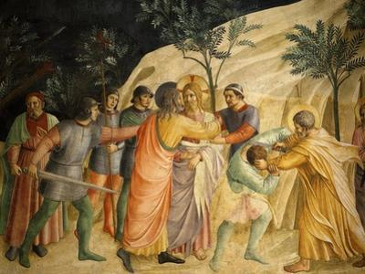 Arrest of Jesus and Judas' Kiss, Fresco 1437-45, Dormitory, Convent of San Marco, Florence, Italy