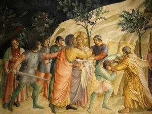 Arrest of Jesus and Judas' Kiss, Fresco 1437-45, Dormitory, Convent of San Marco, Florence, Italy by Fra Angelico