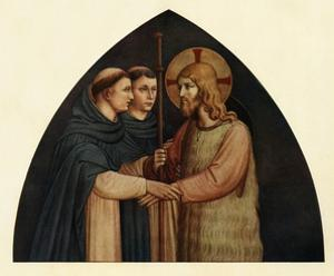 'Christ as a Pilgrim Met by Two Dominicans', 15th century, (c1909) by Fra Angelico