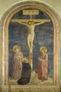 Crucifixion with the Virgin, Ss, John the Evangelist and Dominic, 1442 by Fra Angelico