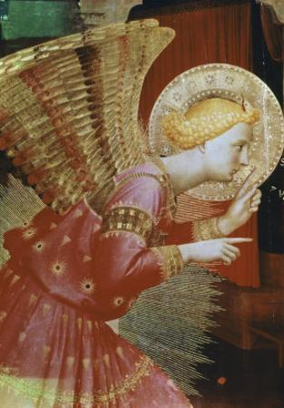 Detail of Angel of the Annunciation, c.1432-3 by Fra Angelico