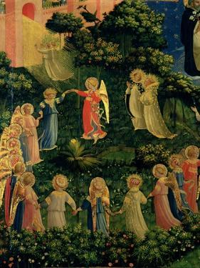 Detail of Heaven from the Last Judgement by Fra Angelico