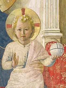 Detail of the Christ Child from the Madonna Delle Ombre by Fra Angelico