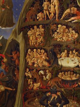 Detail of the Damned in Hell, from the Last Judgement by Fra Angelico