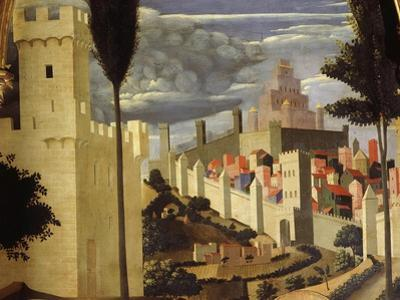 Jerusalem, from Deposition of Christ, 1435, from Holy Trinity Altarpiece (Detail) by Fra Angelico