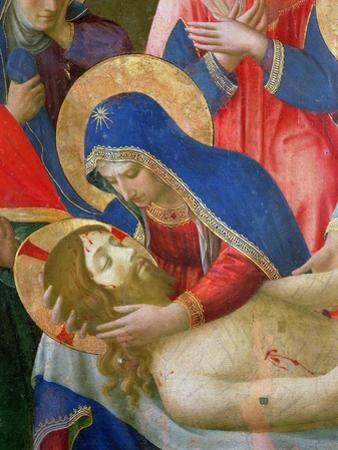 Lamentation over the Dead Christ, 1436-41 (Detail) by Fra Angelico