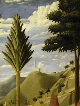 Landscape with White Castle on Hilltop, from the Deposition of Christ, 1435, from Holy Trinity by Fra Angelico