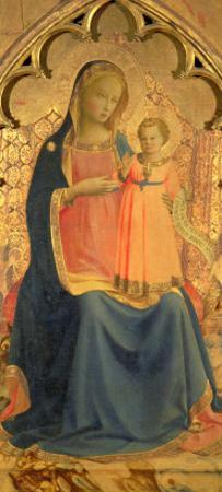 Madonna and Child, Central Panel of a Triptych by Fra Angelico
