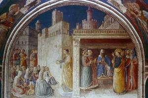 St Stephen Preaching, Mid 15th Century by Fra Angelico