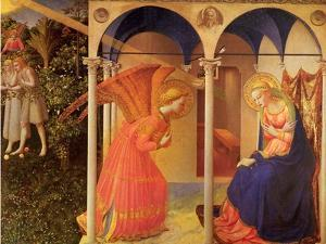 The Annunciation, 1400 by Fra Angelico
