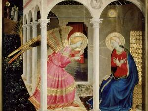 The Annunciation Altarpiece with Predella with Life and Death of Virgin Mary by Fra Angelico