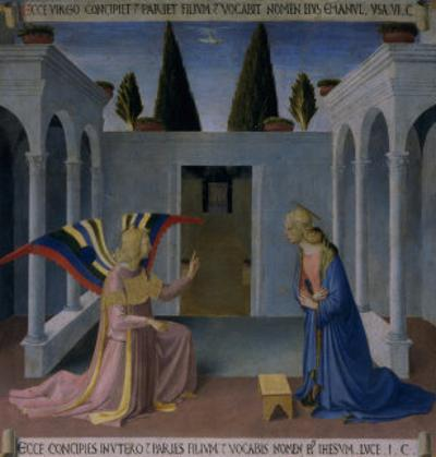 The Annunciation, Story of the Life of Christ by Fra Angelico