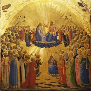 The Coronation of the Virgin, 1434-1435 by Fra Angelico