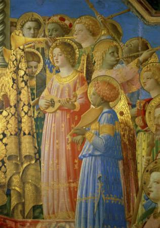 The, Detail Coronation of the Virgin by Fra Angelico