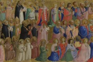 The Virgin Mary with the Apostles and Other Saints, C. 1423-1424 by Fra Angelico