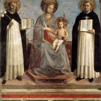 Virgin and Child with Saints Dominicus and Thomas Aquinas, 1424-1430