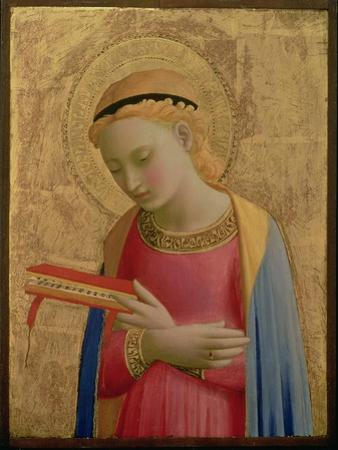 Virgin Annunciate, 1450-55 (Gold Leaf and Tempera on Wood Panel) (See also 139311)