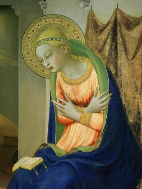 Virgin Mary, from Annunciation Altarpiece, 1430-35 (Detail) by Fra Angelico