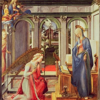 The Annunciation (Oil on Panel) by Fra Filippo Lippi
