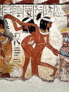 Fragment of a Wall Painting from the Tomb of Nabamun, From Thebes, 18th Dynasty, Around 1350 BCE