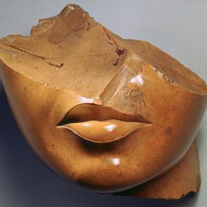Fragmentary Head of a Queen, Reign of Akhenaten, Egyptian, 18th Dynasty