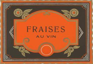Fraises Au Vin Label