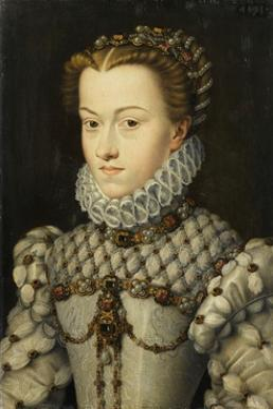 Elisabeth of Austria, Queen of France by Fran‡ois Clouet