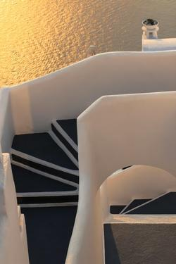Hotel Stairs, Santorini, Greece by Fran?oise Gaujour
