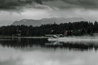 Hydroplane Taking Off in Homer Split, Homer, Alaska