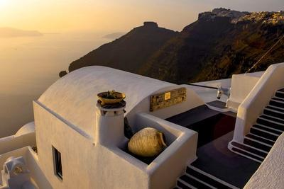Stairs Leading to a Hotel, Santorini, Greece