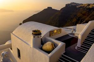 Stairs Leading to a Hotel, Santorini, Greece by Fran?oise Gaujour
