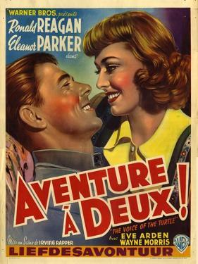 France Adventure for Two, Voice Of The Turtle Film Poster, 1940s