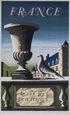 France, Country of Chateau, French Travel Poster