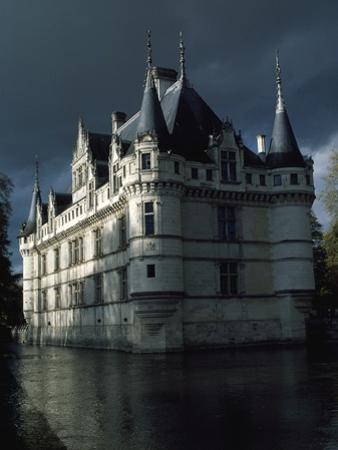 France, Loire Valley, View of Chateau De Azay-Le-Rideau, 16th Century