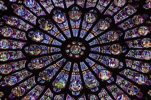 France, Paris, Notre Dame, Rose Window