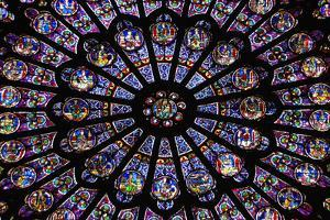 France, Paris, Notre Dame, Rose Window