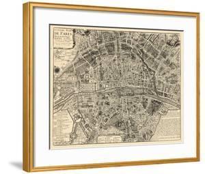France, Paris, Vintage Map