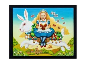 Alice and the White Rabbit, 2013 by Frances Broomfield
